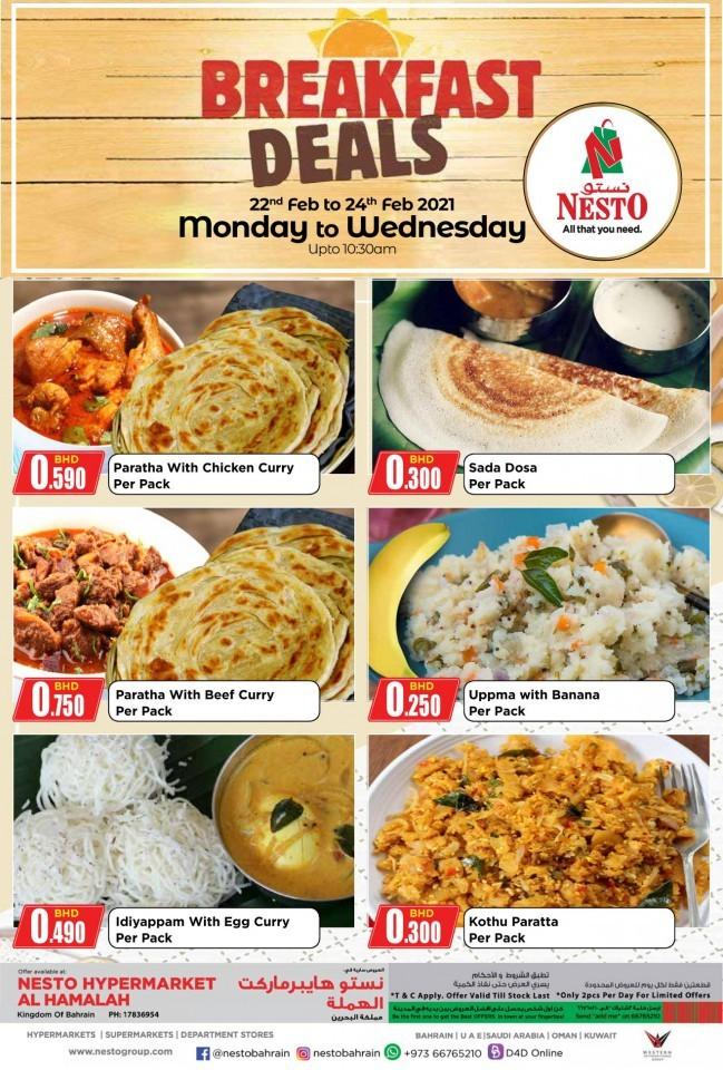 Nesto Hamalah Breakfast Deals