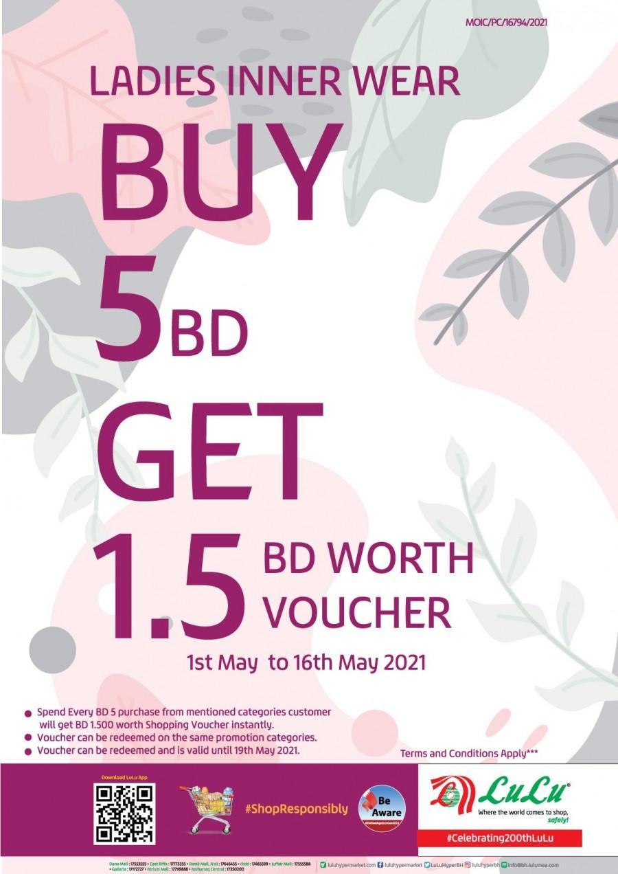 Lulu Buy BD 5 & Get BD 1.5