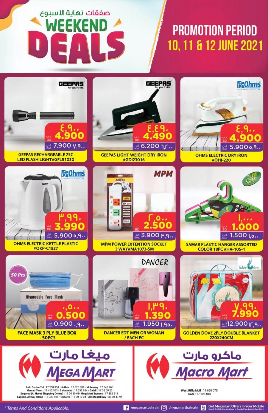 Mega Mart Grand Weekend Deals