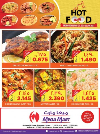 Mega Mart Weekend Hot Food Deals