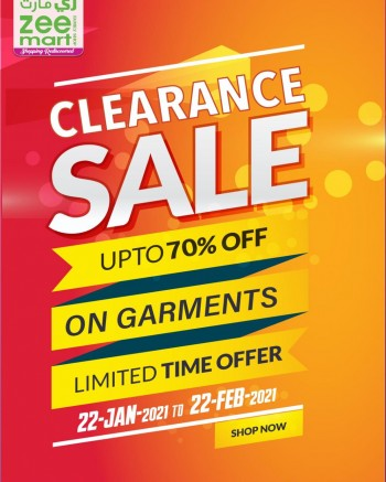 Zeemart Family Shop Clearance Sale