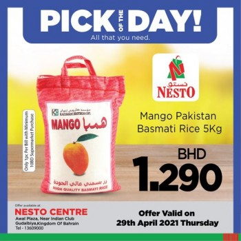 Nesto Centre Deal Of The Day 29 April 2021