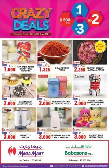 Mega Mart Crazy Midweek Deals