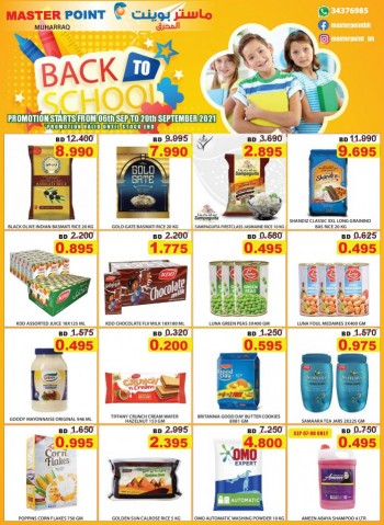 Master Point Back To School