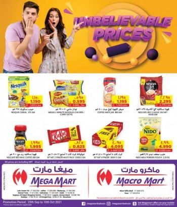 Mega Mart Unbelievable Prices